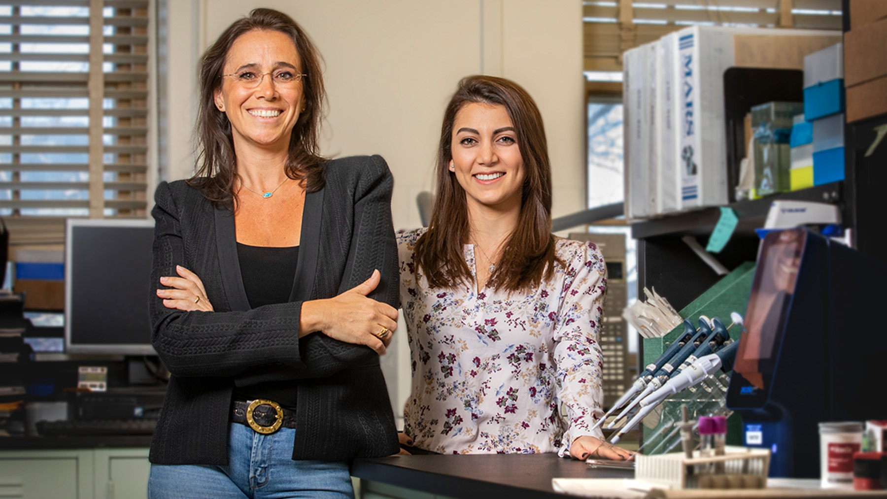 professor of food science and human nutrition M. Yanina Pepino on the left side