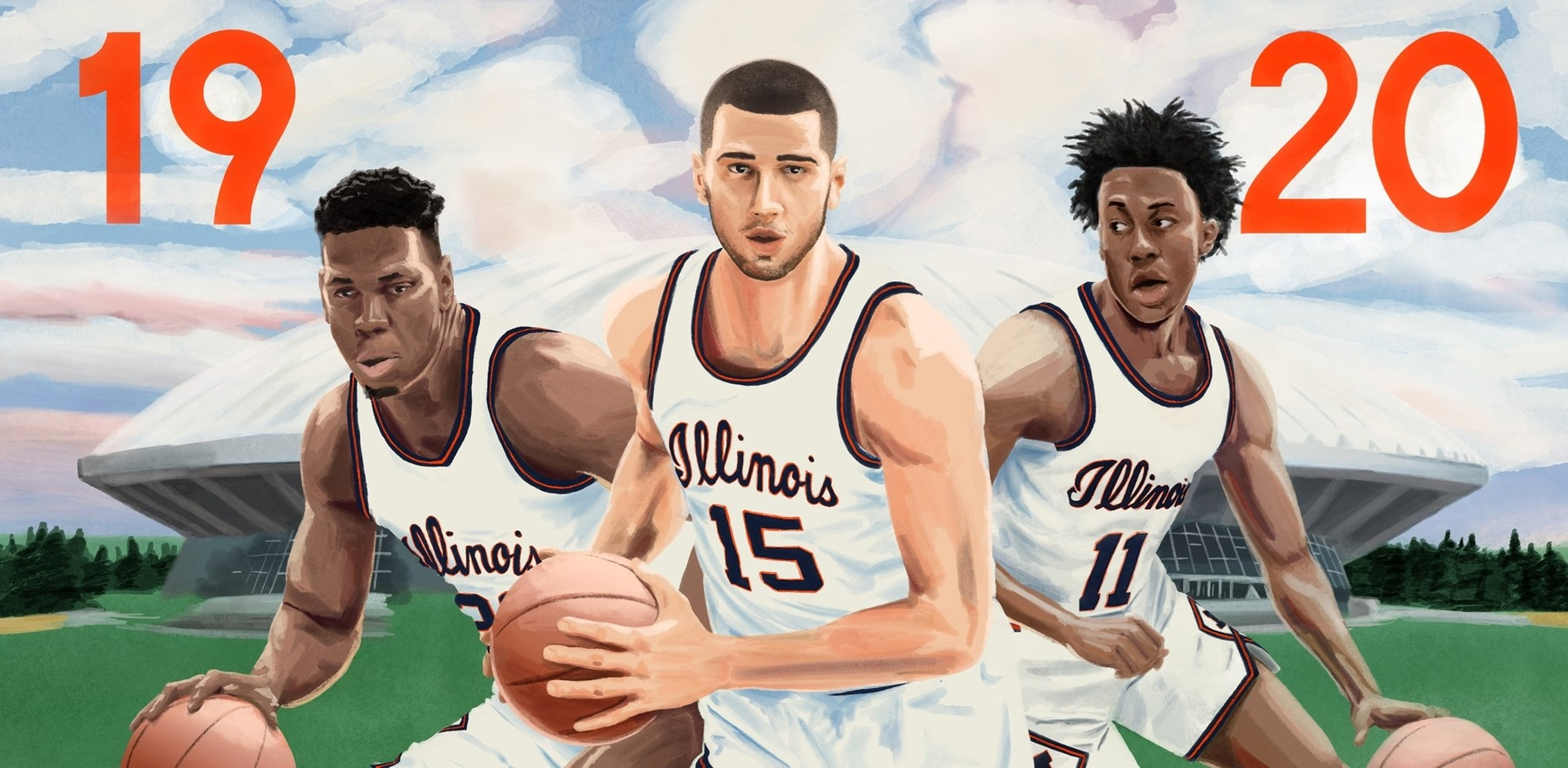 water-color-look graphic shows players wearing classic 70s era uniforms