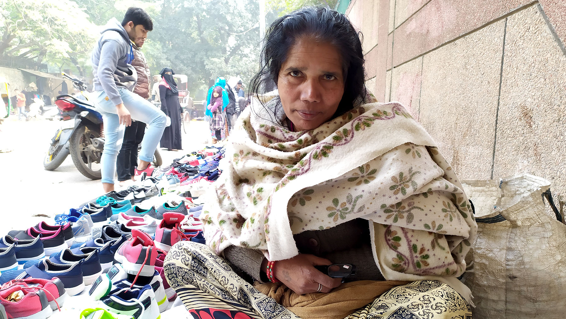 Women selling wares in the mahila bazaar say they must fend off drunken men, sexual harassment, thieves and other hazards, but having a market of their own is better than trying to sell in markets dominated by men, where they are also hassled by police and municipal authorities.