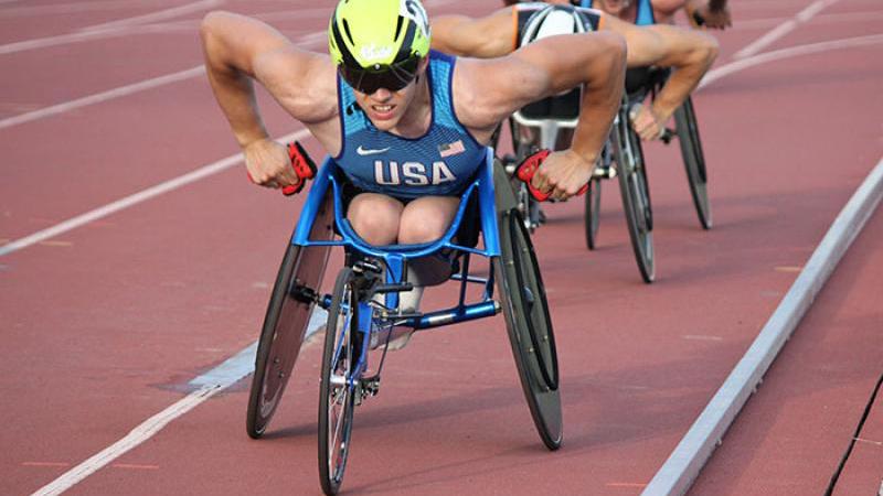 Daniel Romanchuk races. Photo via College of Applied Health Sciences