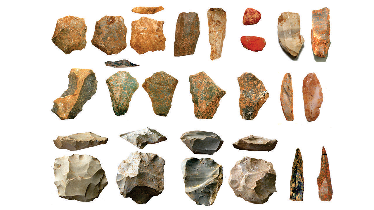 Stone tools. Photo by Chris Clarkson