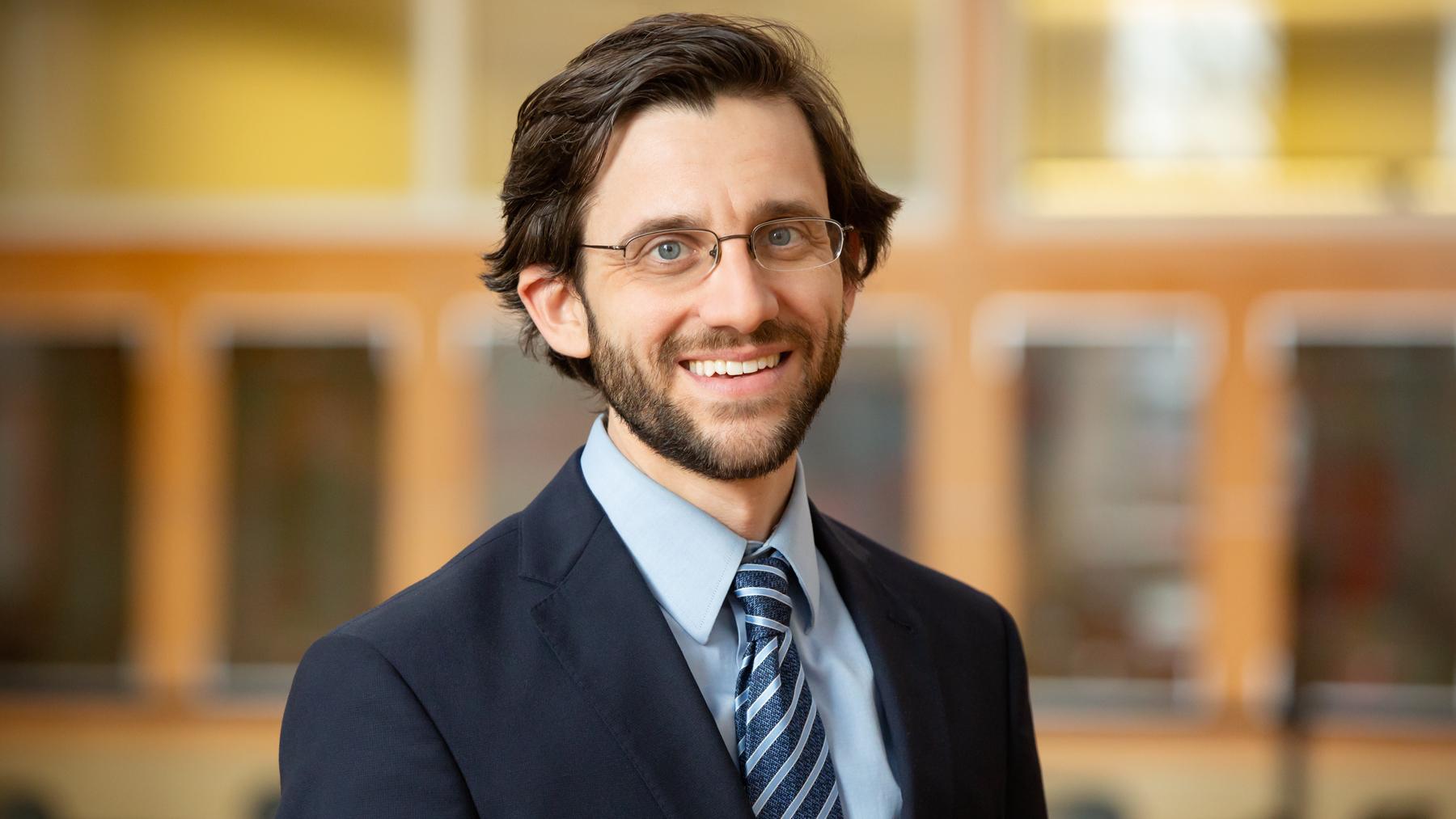 U. of I. labor economist Russell Weinstein.  Photo by L. Brian Stauffer