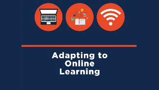 graphic for this blog entry, 'Adapting to Online Learning'