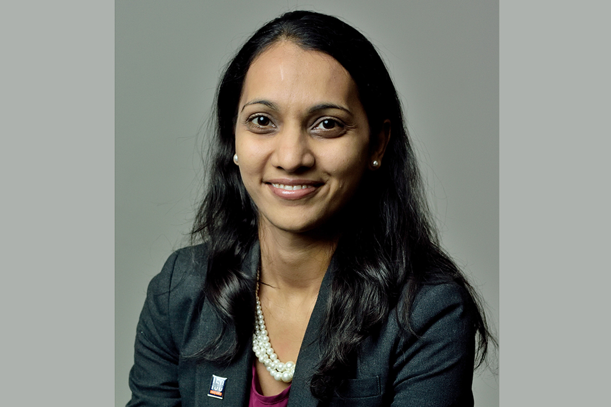Kinesiology and community health professor Neha Gothe.  Photo courtesy Neha Gothe