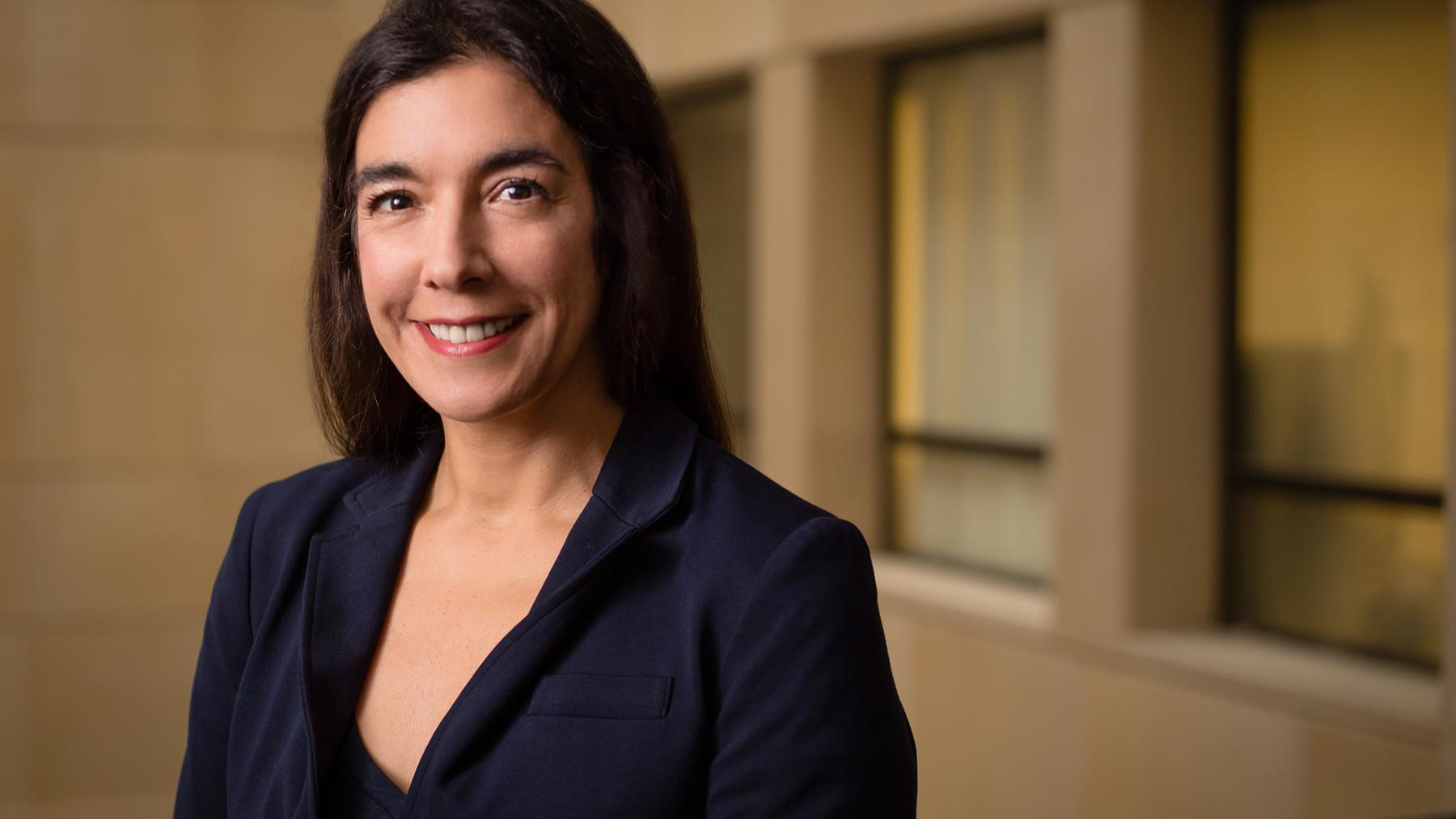 Psychology professor Dolores Albarracín. Photo by L. B. Stauffer