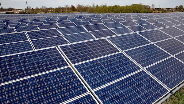 University of Illinois Solar Farm. Photo by L. B. Stauffer