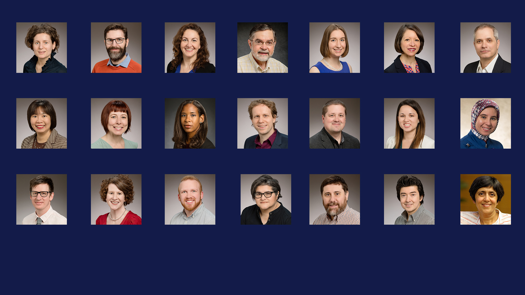 composite of portraits of some recipients of the Campus Teaching Awards for Excellence