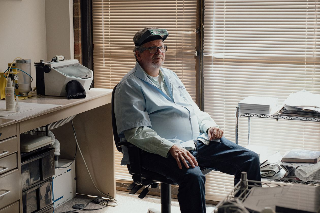 Mike Bridge, owner of Diamond Dental Lab in Illinois. Photo by Kevin Serna