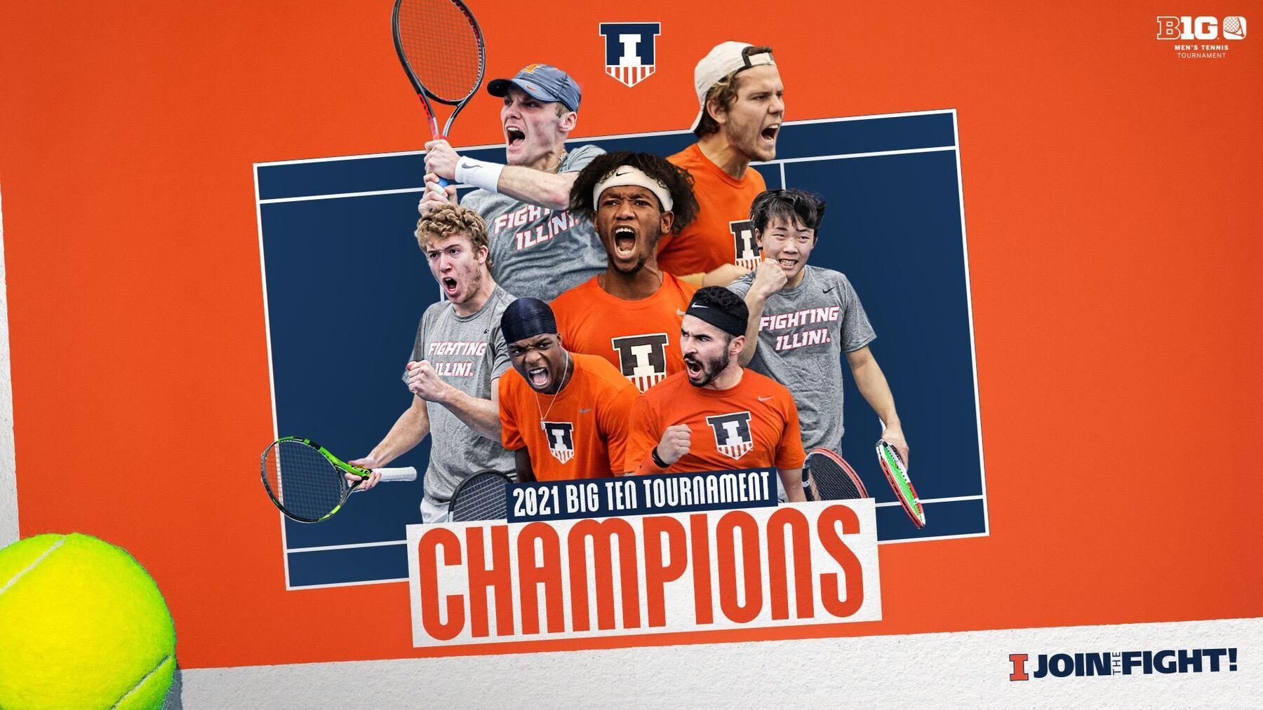 Graphic text: 2021 Big Ten Tournament Champions