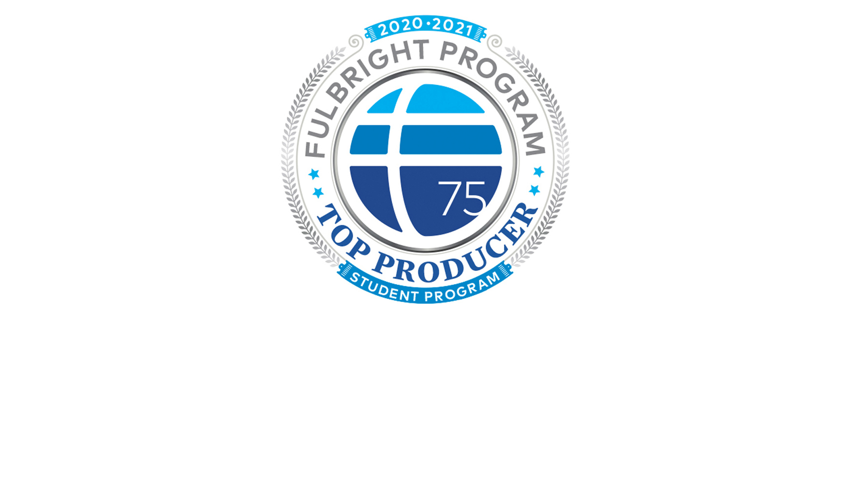 Fulbright Program's 'top producer' logo