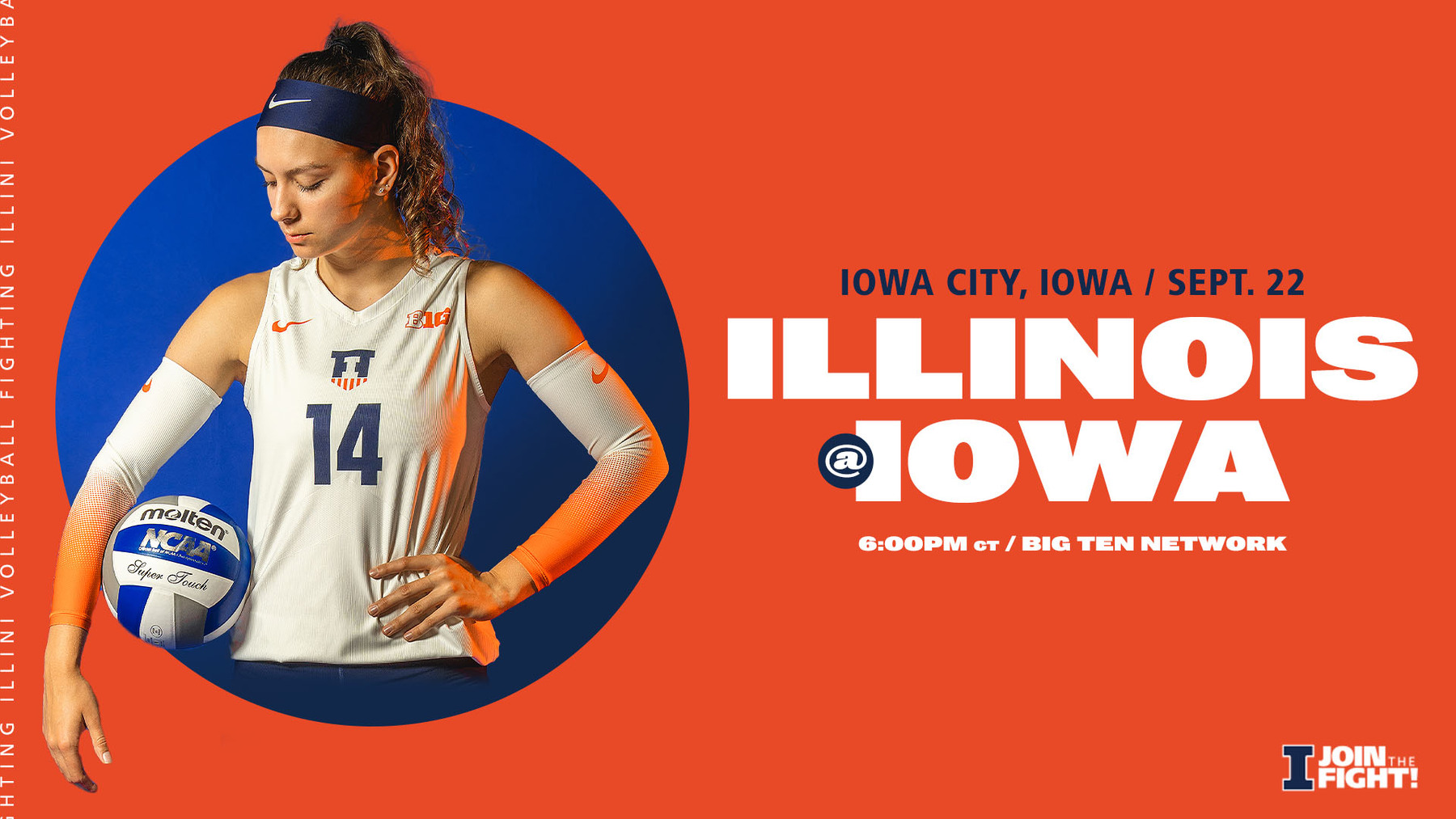 outside hitter Jessica Nunge featured in graphic advertising Wednesday's match