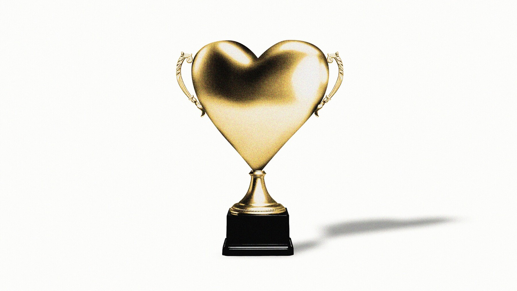 graphic image of golden heart-shaped trophy by Adam Maida / The Atlantic