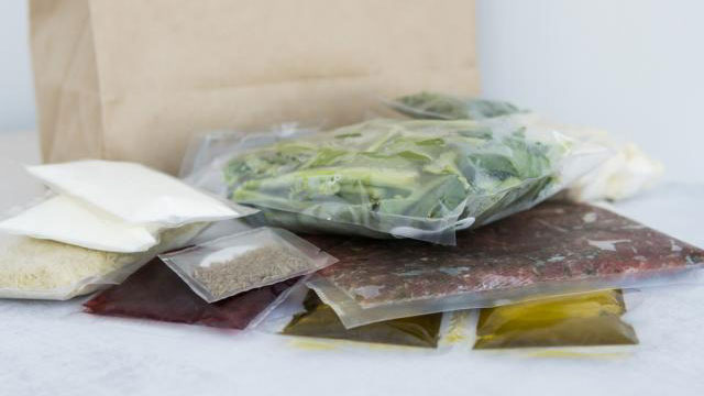ingredients in a meal kit. USDA photo.