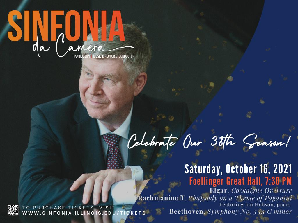 Sinfonia da Camera: Concert on Saturday, October 16, 2021 - Foellinger Great Hall