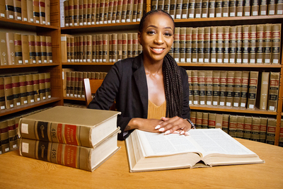 Sociology major Denise Branch gained valuable perspective from her internships at local law firms.