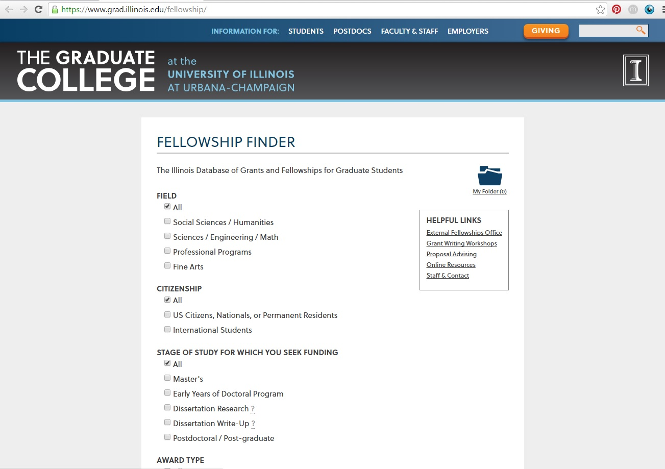 uiuc grad college dissertation completion fellowship