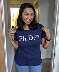 Nitasha in her PhDiva shirt