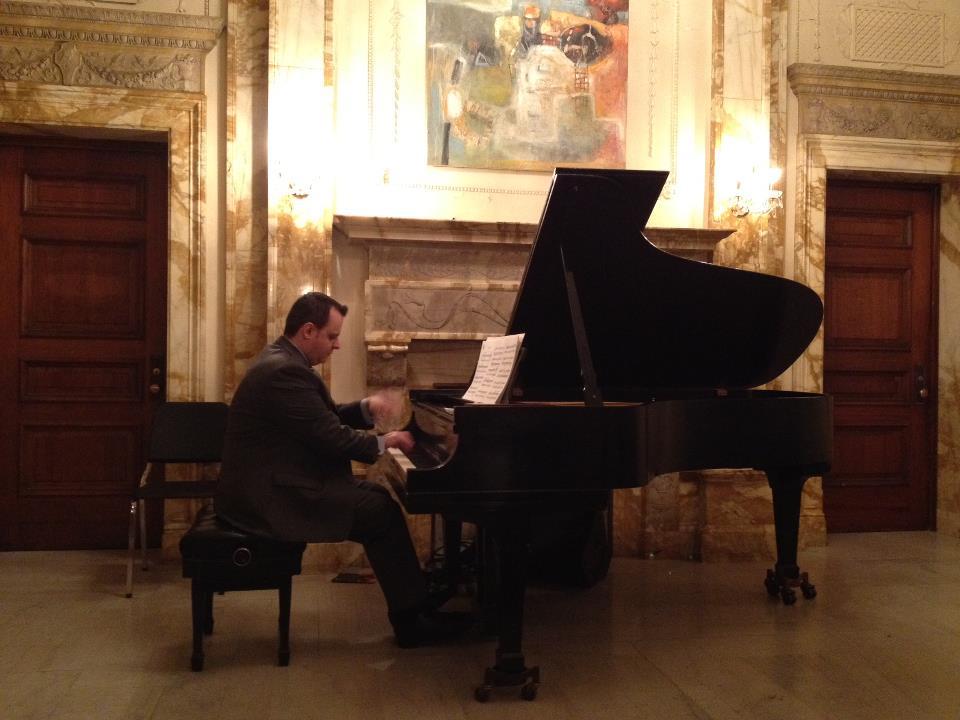 Greek pianist Kostantinos Papadakis is giving a piano performance 03.13.2012