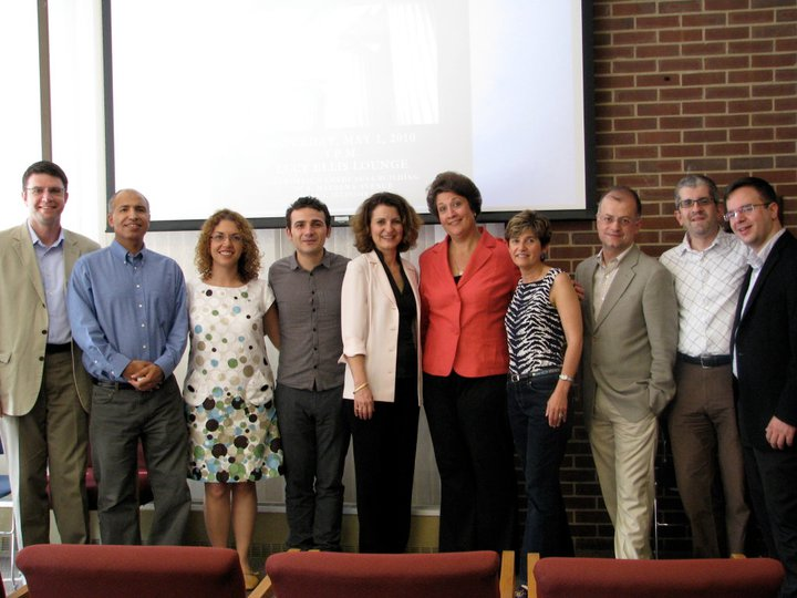 MGS faculty and Advisory Board with the Dean of Liberal Arts and Sciences (LAS), Ruth Watkins, Houston-Papadimitriou Award Ceremony May 2010