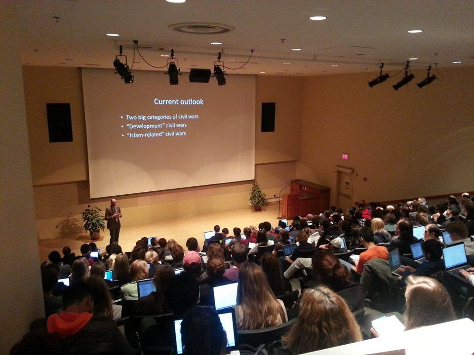Dr. Stathis Kalyvas, Yale University, delivers a lecture on the Greek Civil War to a standing room only crowd 10.29.2014