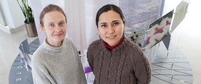 Justina Zurauskiene, left, and Zeynep Madak-Erdogan