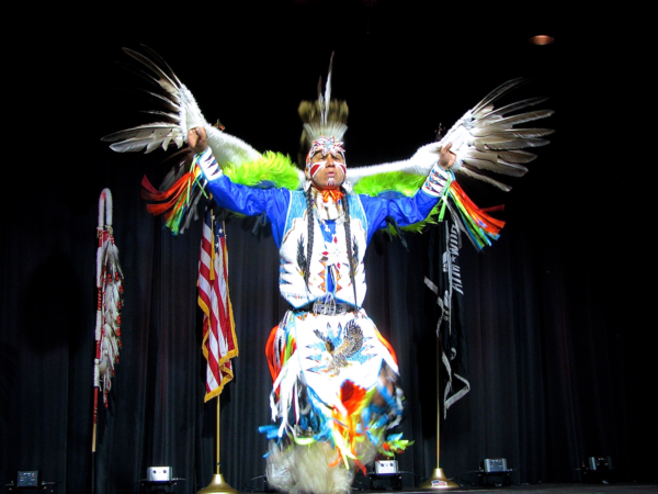 Image: Larry Yazzie sharing the Eagle Dance for our veterans and community at the Smithsonian. Courtesy of Joe Podlasek