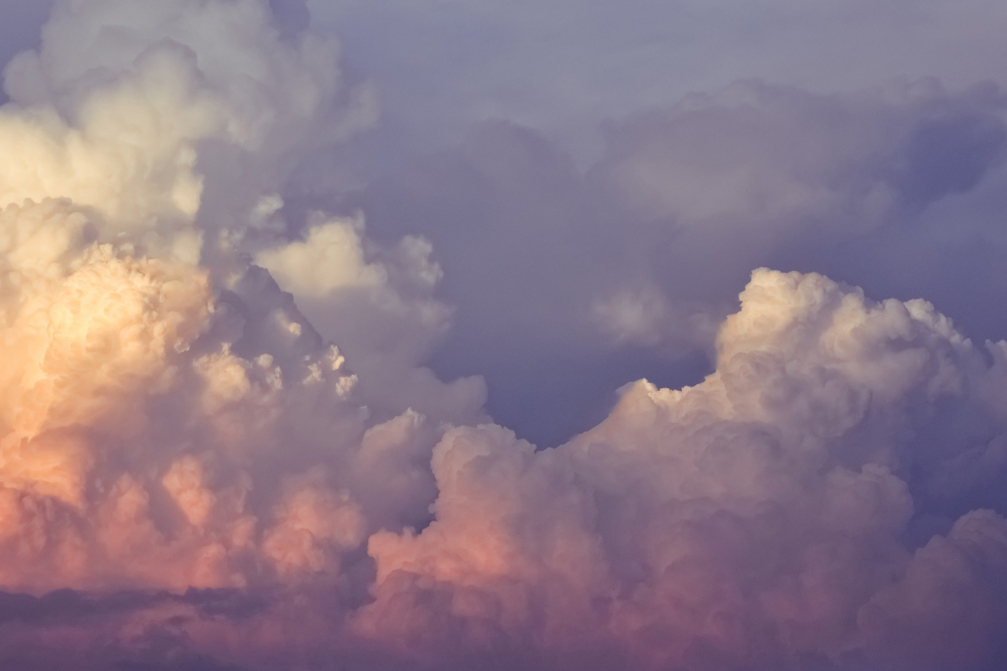 clouds with pink lining