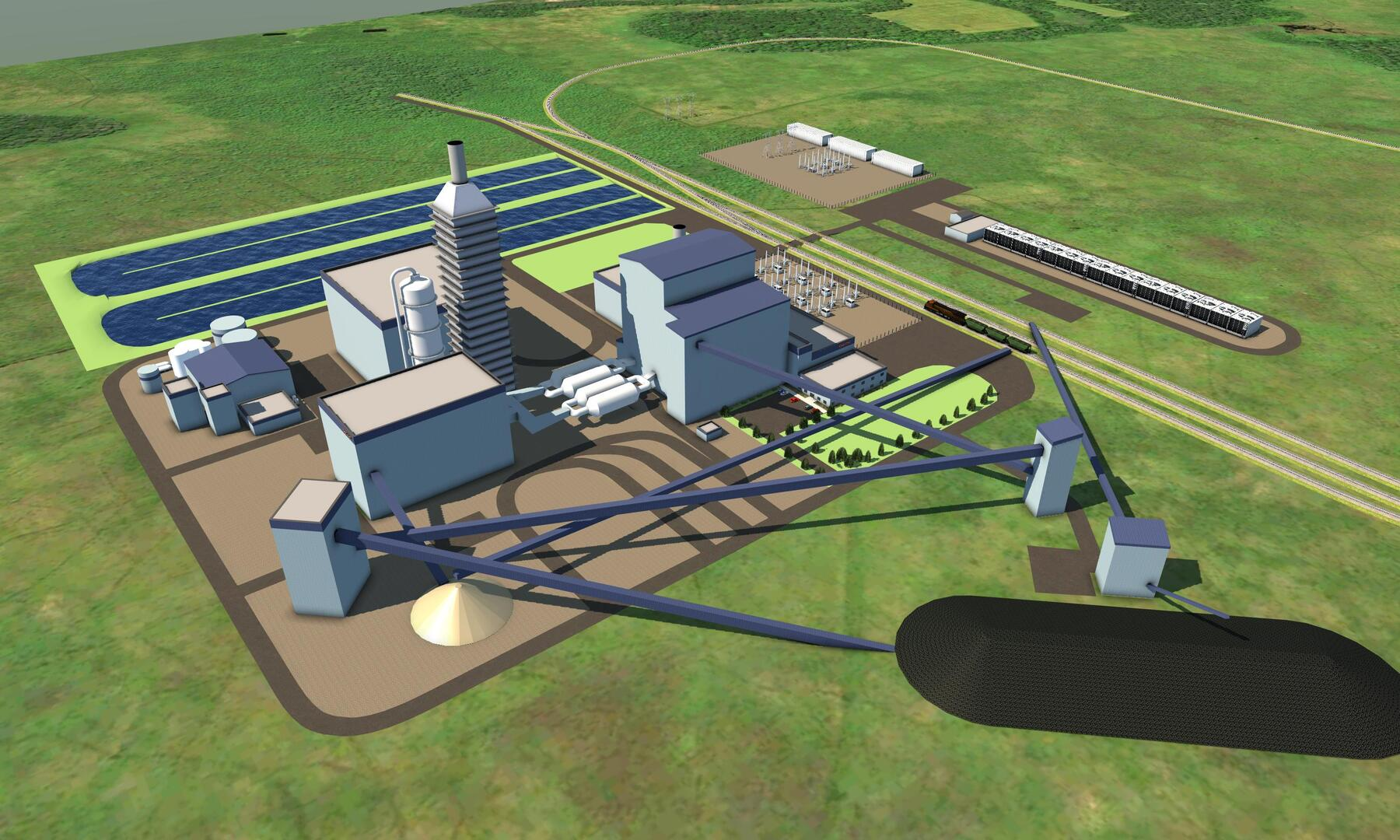 rendering of the proposed innovative power plant