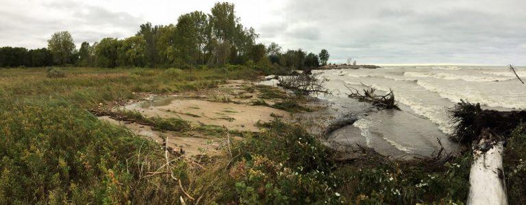 erosion on the Lake Michigan shoreline