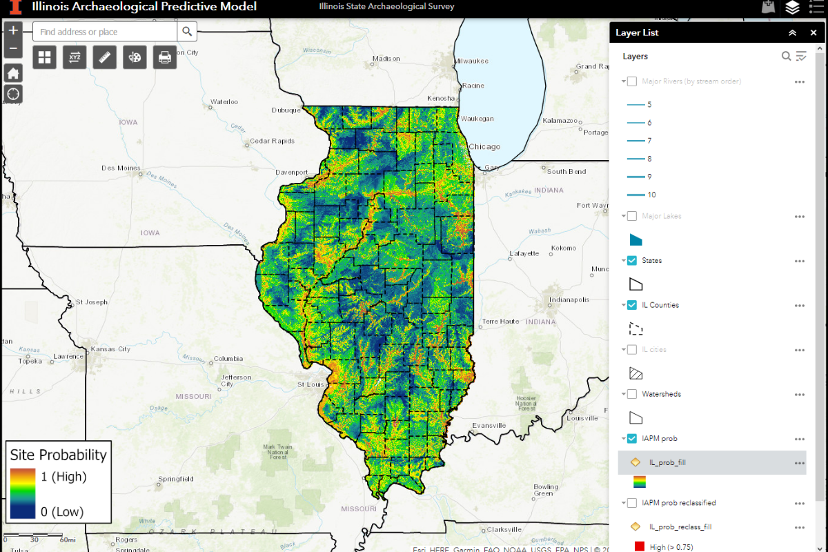 Illinois Archaeological Predictive Model screenshot