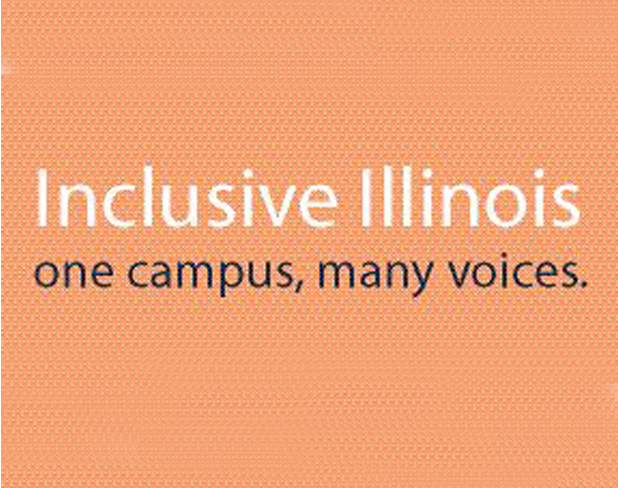 Inclusive Illinois, one campus, many voices graphic