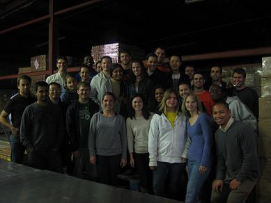 Illinois MBA Students at the Eastern Illinois Food Bank