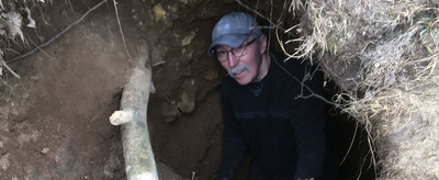 Sam Panno explores Calf Cave in Jo Daviess county