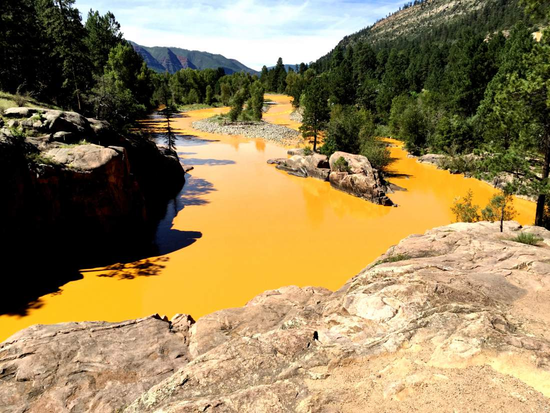 Animas River stained yellow from chemical spill