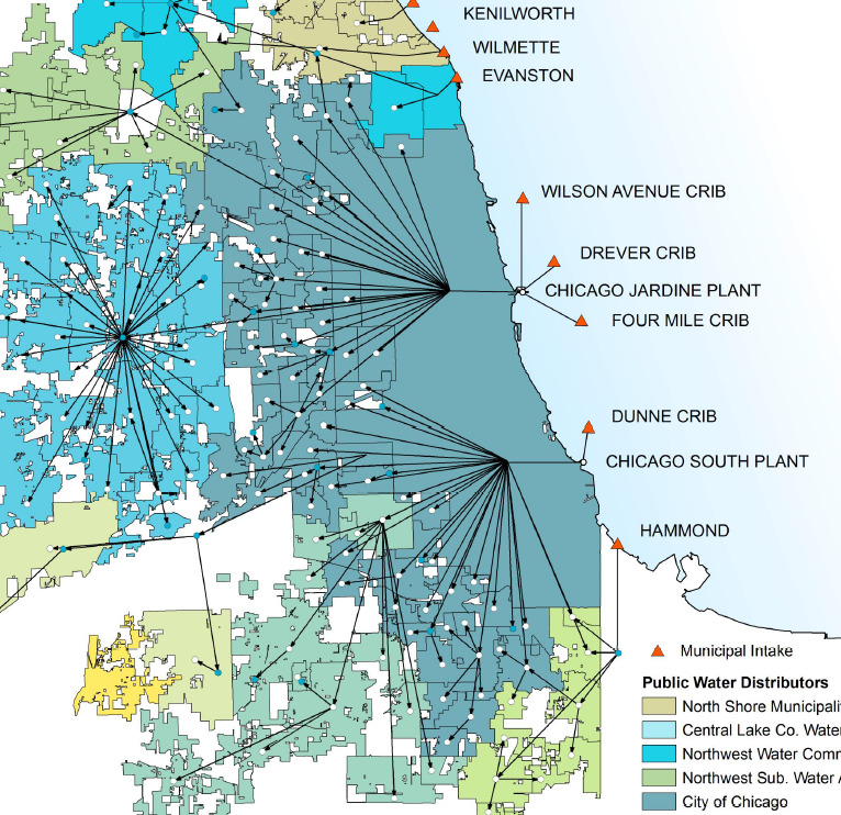 Northwest Chicago Map.Water From Where The Complex Web Of Water Use In Illinois
