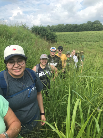 IFR field school students on a field trip to Kincaid Mounds in southern Illinois.