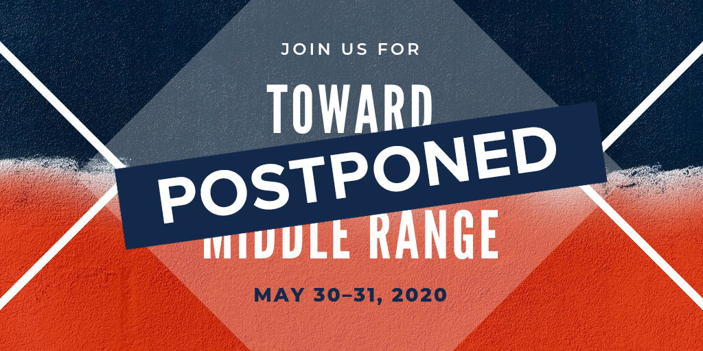As we all seek to limit spread of COVID-19, Toward the Middle Range conference will be postponed to 2021.