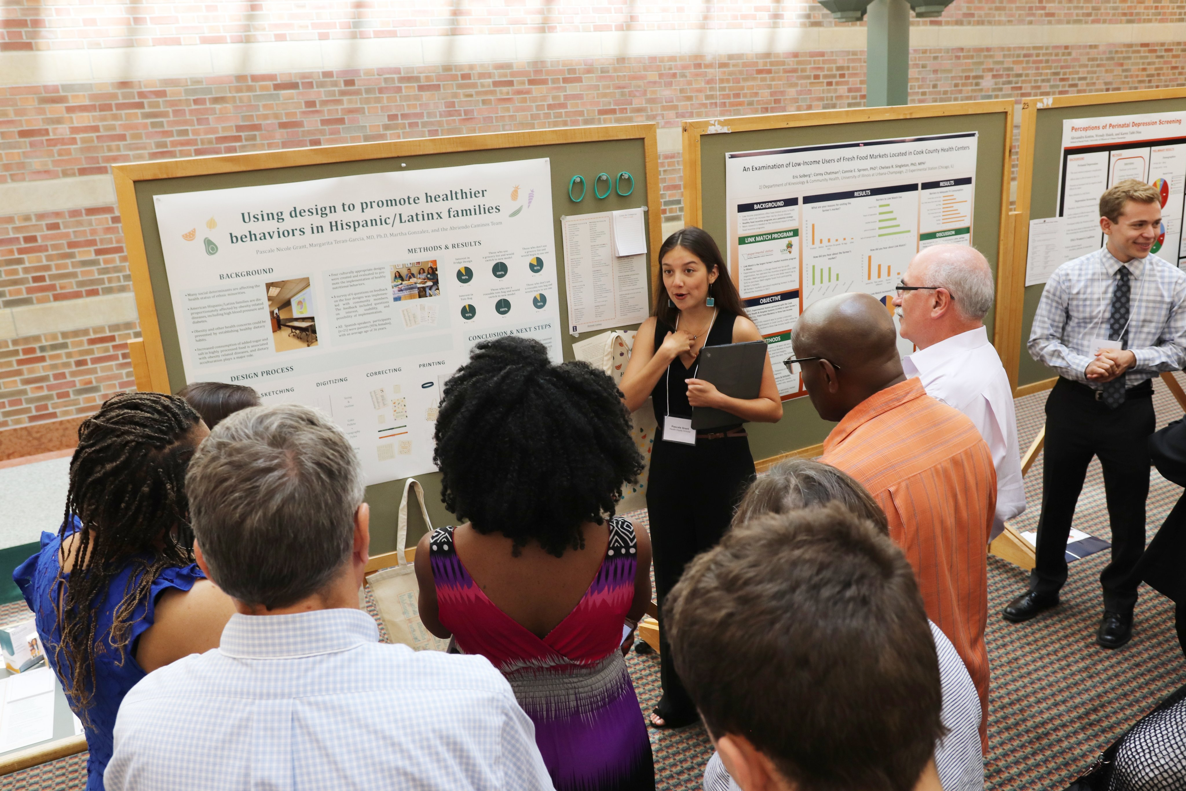 Pascale Grant presenting her poster