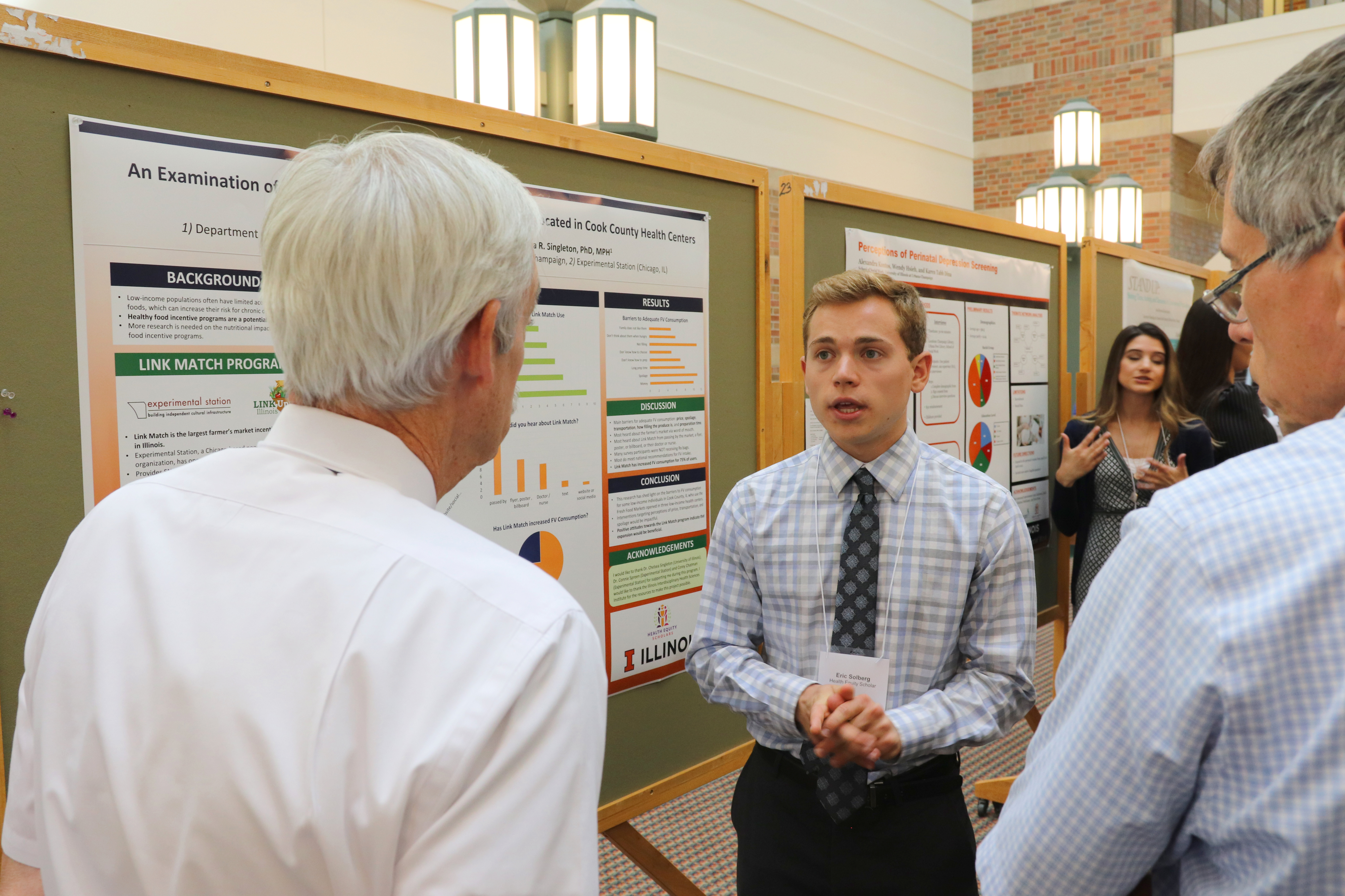 Eric presenting his poster