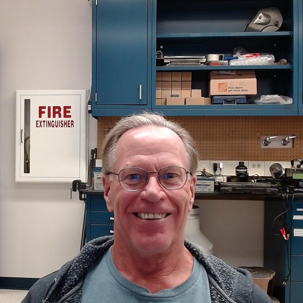 Ron Sjoken in a lab