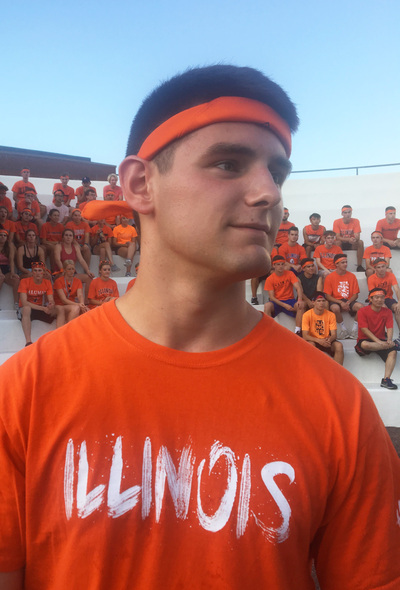 David stands head to toe in Illini orange