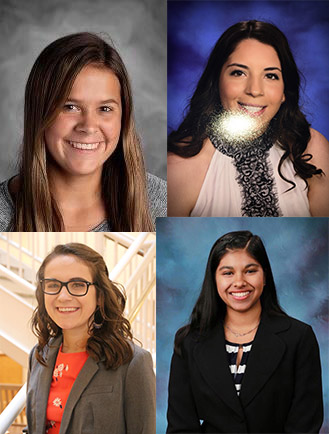 2021 Scholarship winners for the Moms Association