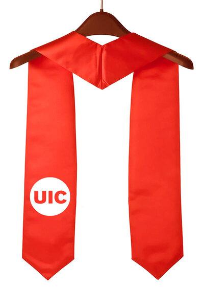 UIC Red Graduation Stole
