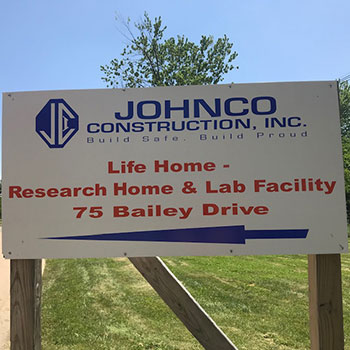 sign for Johnco construction