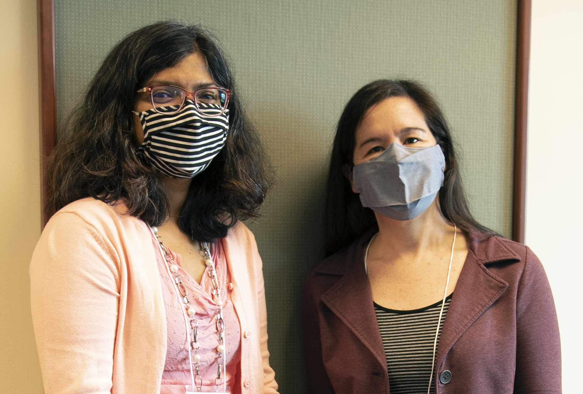Professors Sayee Anakk and Shannon Sirk at the Cancer and Microbes Workshop