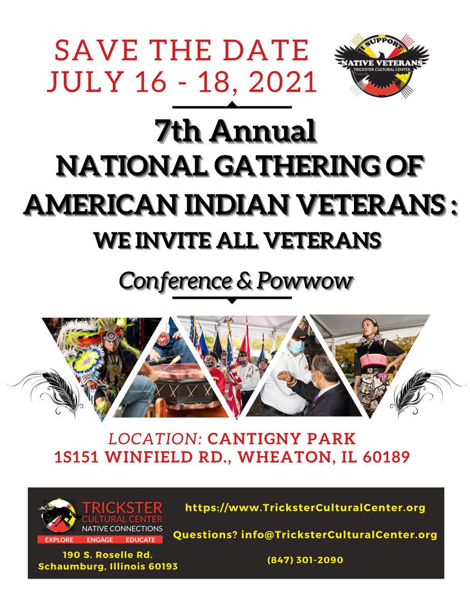 7th Annual National Gathering of American Indian Veterans Flyer