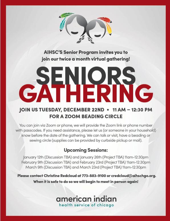 Senior Gathering Flyer