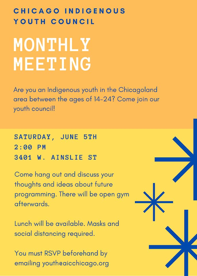 Indigenous Youth Chicagoland Flyer