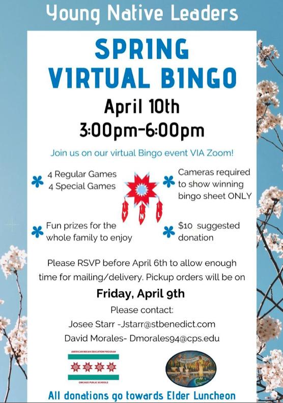 Spring Virtual Bingo
