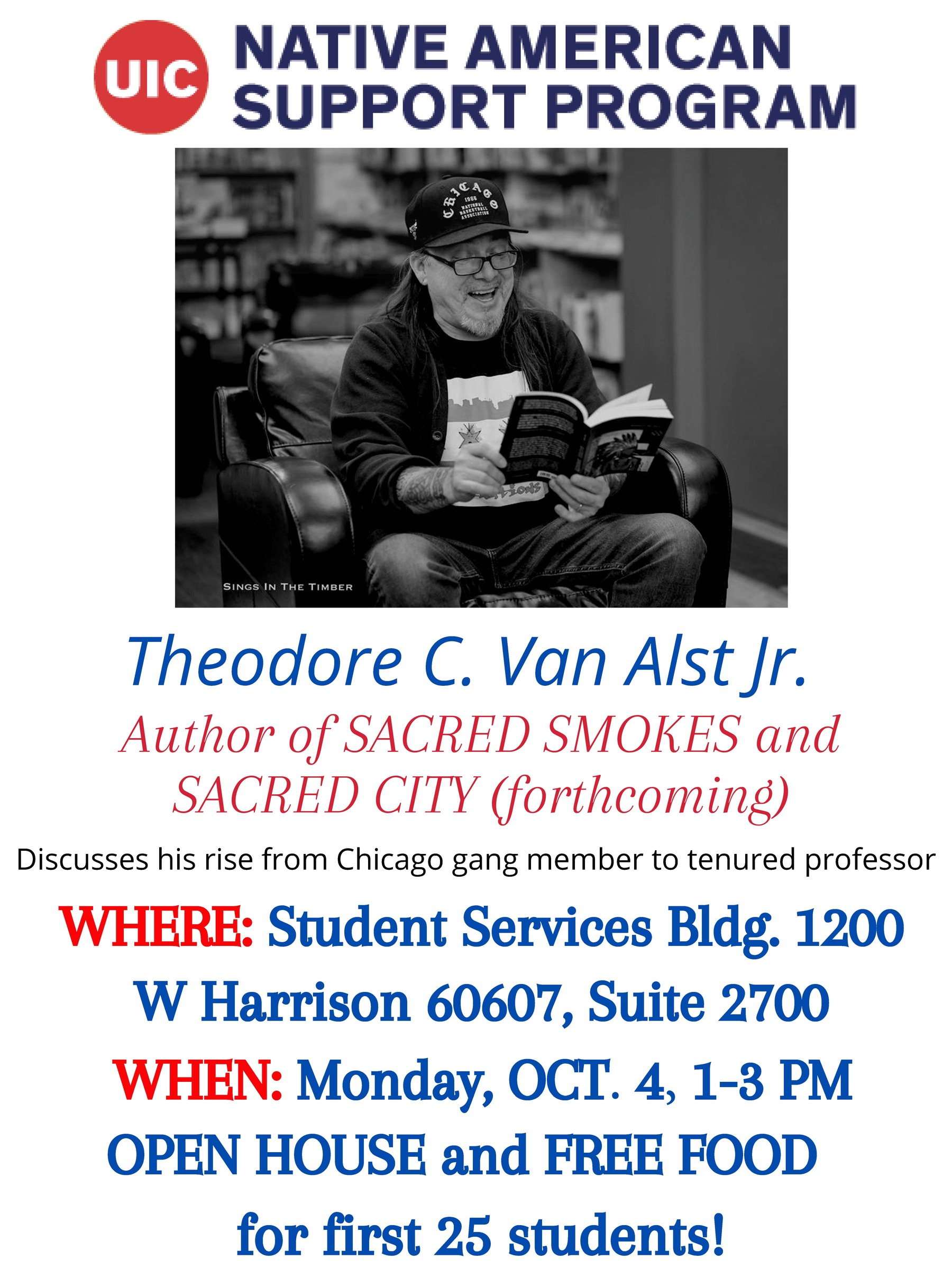 Flyer for Ted Van Alst and NASP Open House